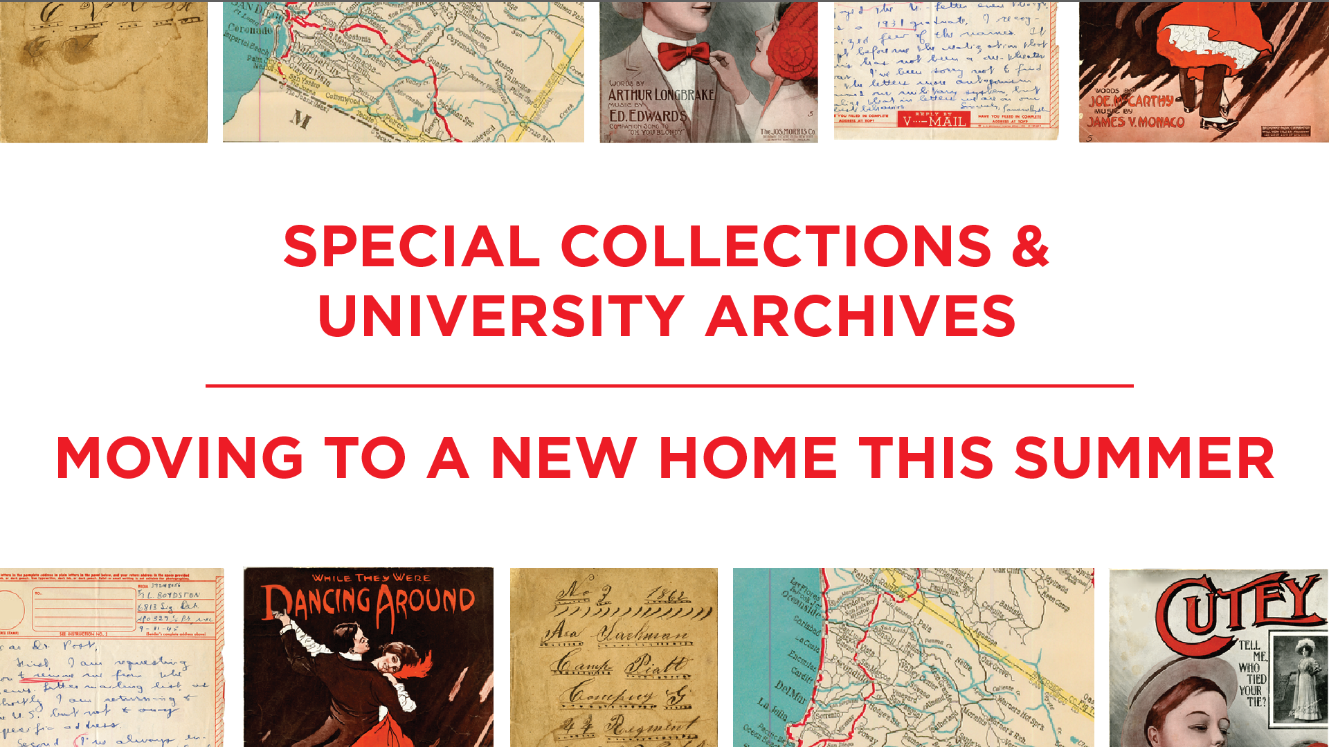 Special Collections moving to a new home this summer