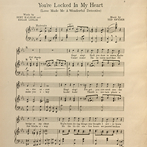 digital collections Vince Meades Sheet Music Collection