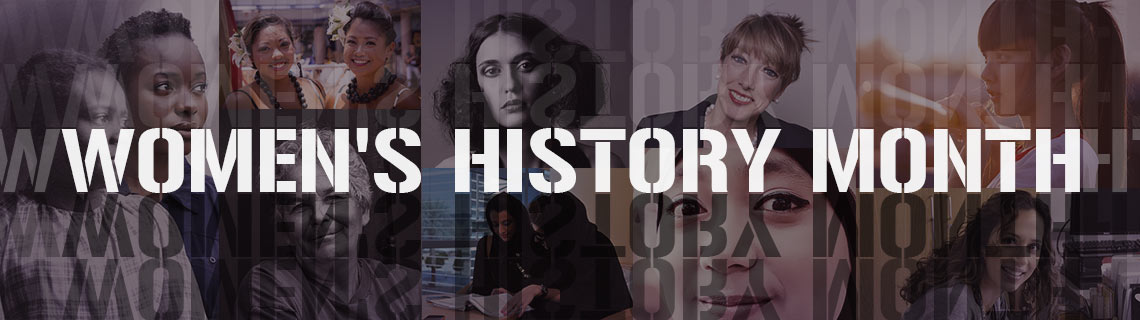womens history month header banner collage