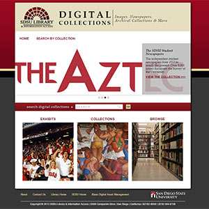 sdsu digital collections website screenshot