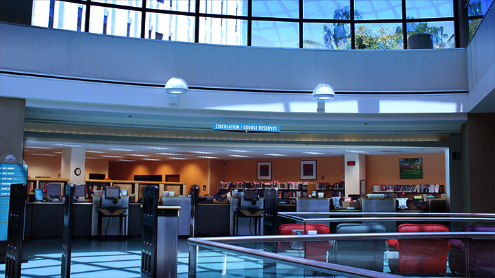 sdsu library circulation desk area