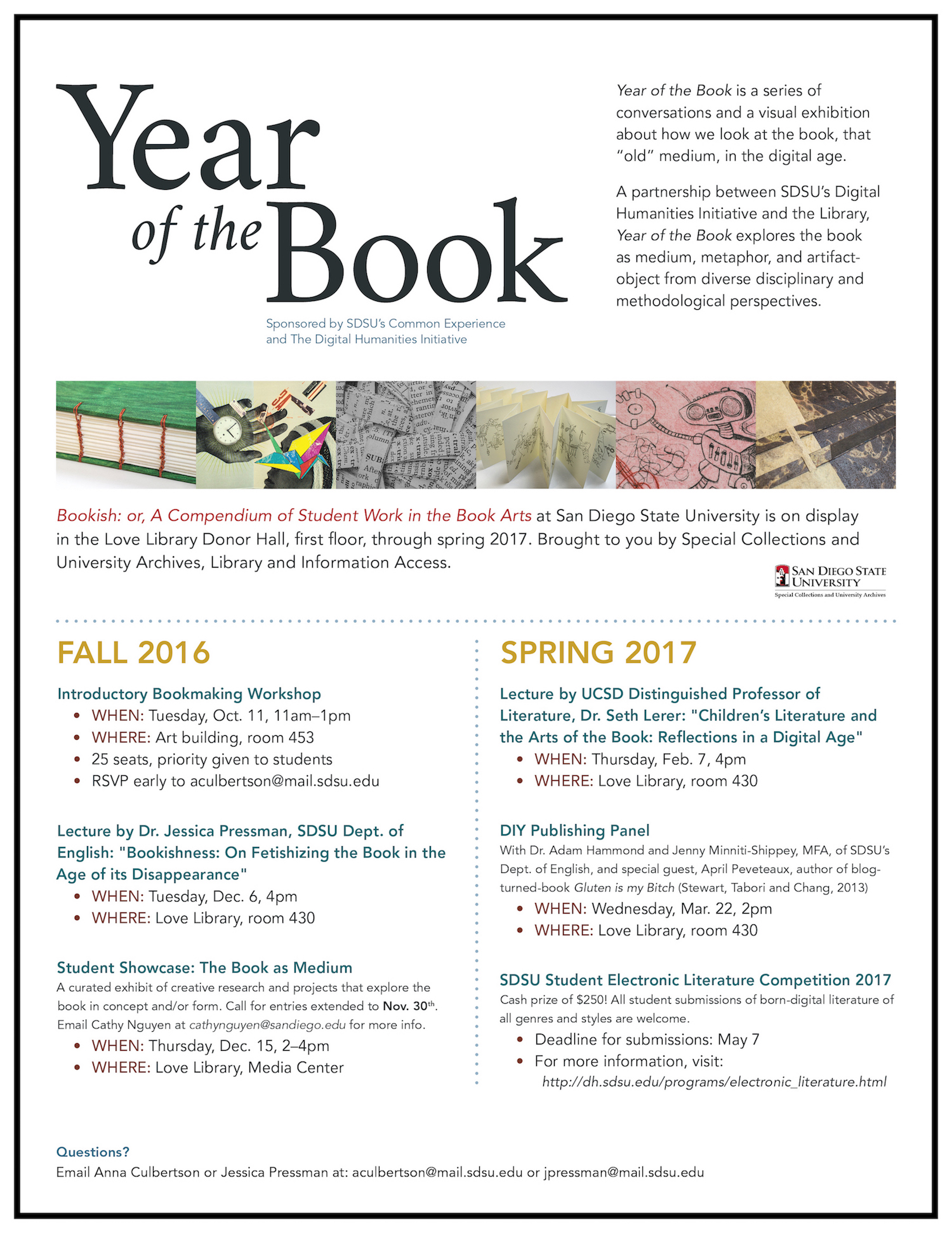 1098 t sdsu - Year Of The Book Flyer