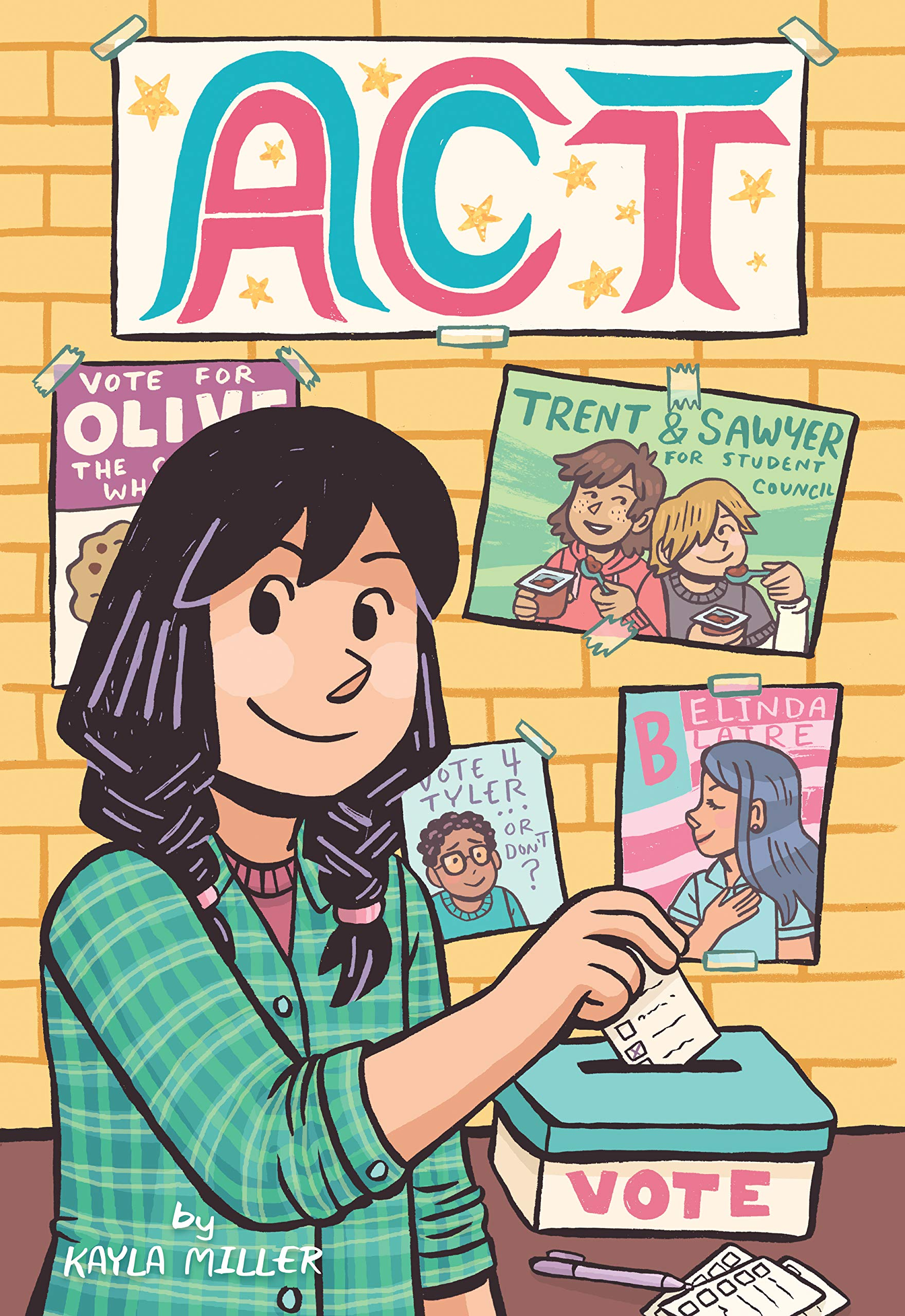 Cover art for Act, showing a young person casting their vote for a school election