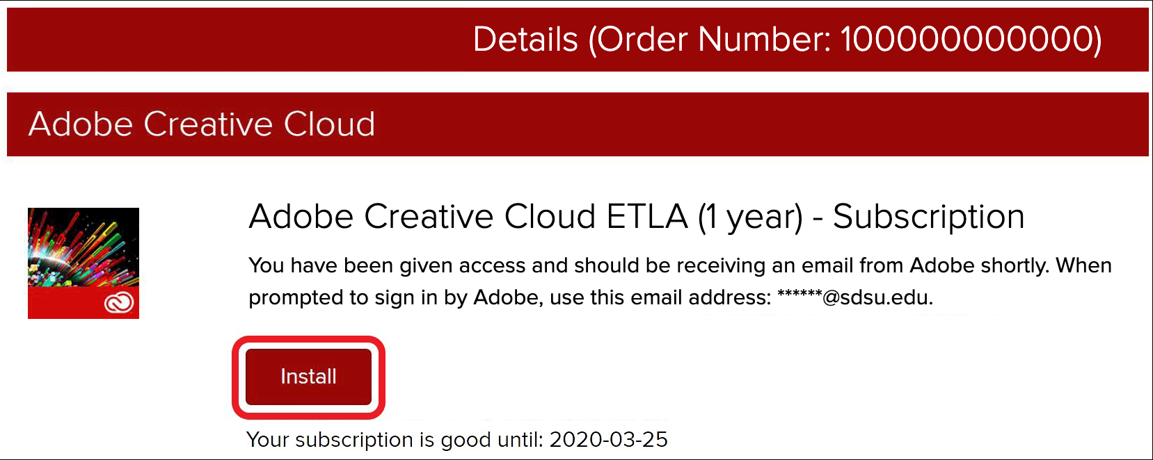 Sign into Adobe Creative Cloud applications with your SDSUid