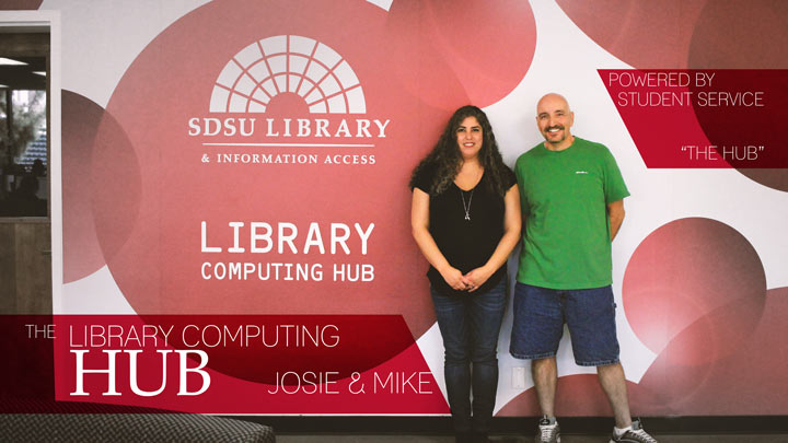 library computing hub josie mike powered by student service