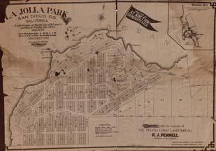 Right This La Jolla Park Subdivision Map Ilrates Plots For Sale Privately Or At Auction In 1887 How Could This Map Be Helpful To The Study Of The