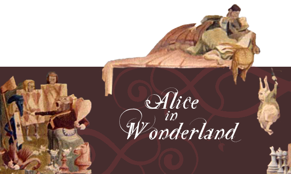 alice in wonderland mural banner