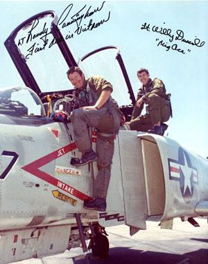 "Autographed photograph of Lt. Randall ""Duke"" Cunningham and Lt. Willy Driscoll,"