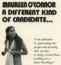 Flyer for Maureen O'Connor's 1971 City Council campaign