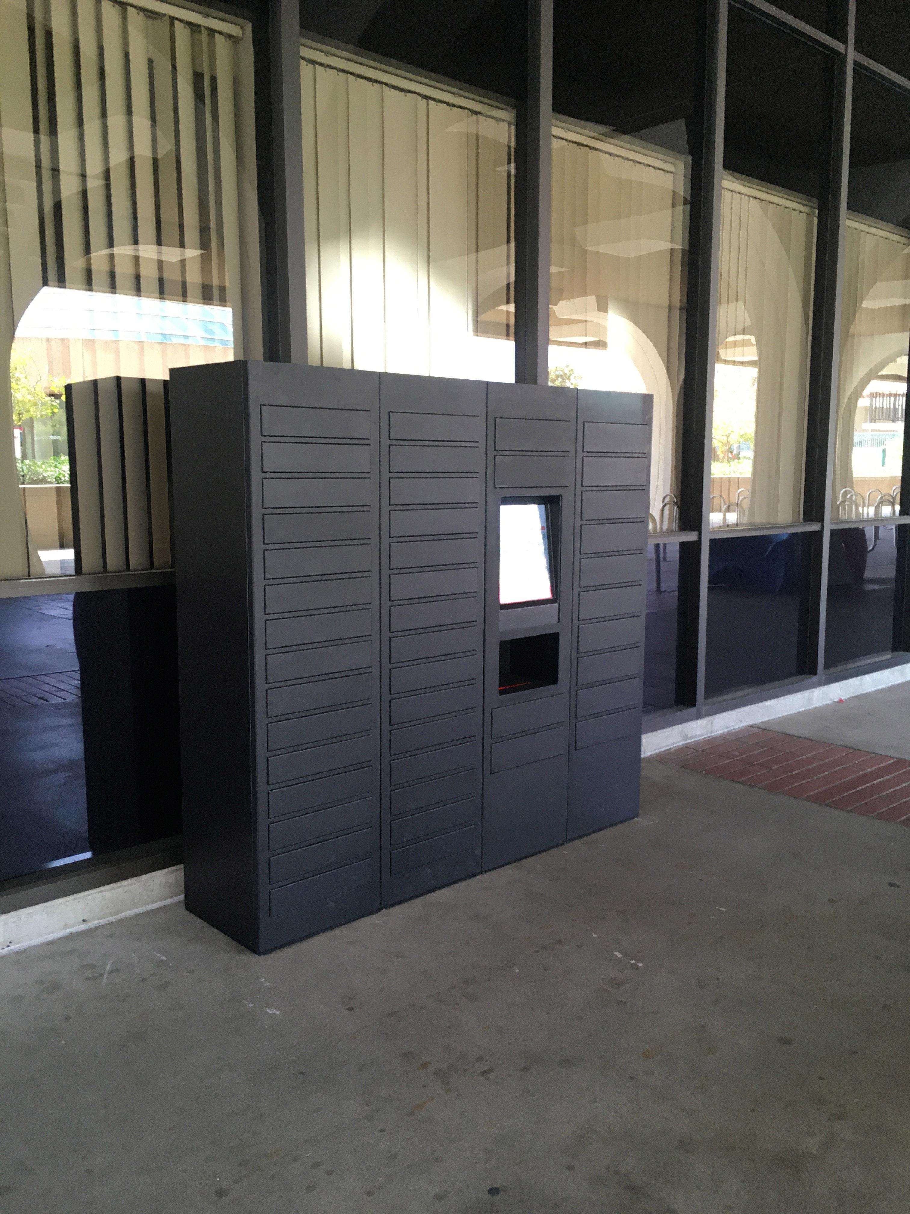 Book locker outside Love Library