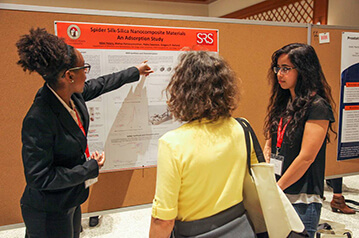 Student presenting at the 2020 Student Research Symposium