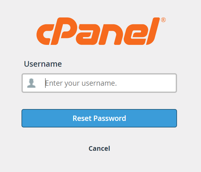 Enter your username page
