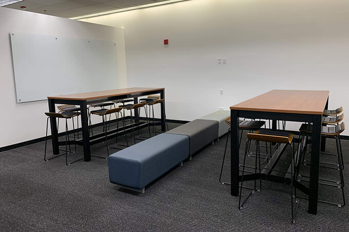 new group study room in the library