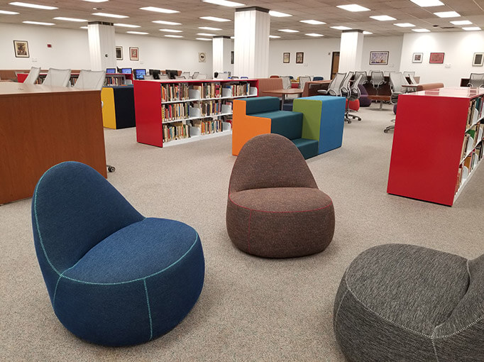 new study spaces in library addition