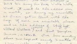 Letter from Lionel Chase, 1942