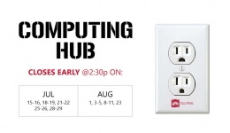 computing hub closes early unhappy plug outlet