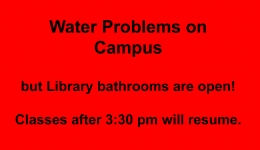 water problems on campus