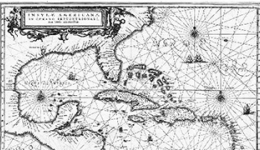 Map of the Caribbean, circa 1630s