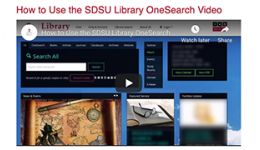 how to use the SDSU Library OneSearch Video