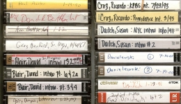 cassette tapes aesthetics literary interview