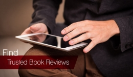 hands holding tablet book reviews