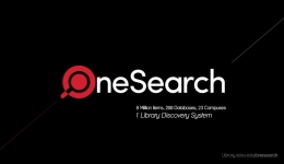 onesearch logo on black bg