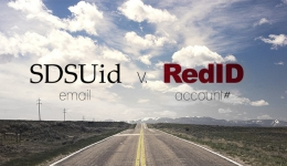 sdsuid email vs redid account #