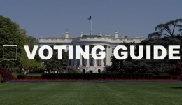 voting guide over white house