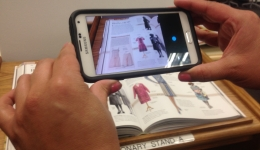 Scanning a book using a smartphone app