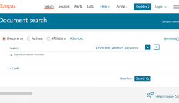 Scopus screenshot