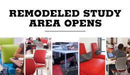 remodeled study area opens