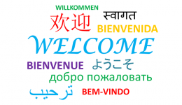 Welcome in multiple languages