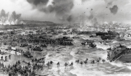 The Allied landing on the coast of Normandy