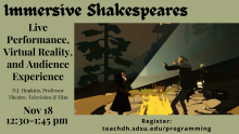 Digital Shakespeares Lecture Flyer