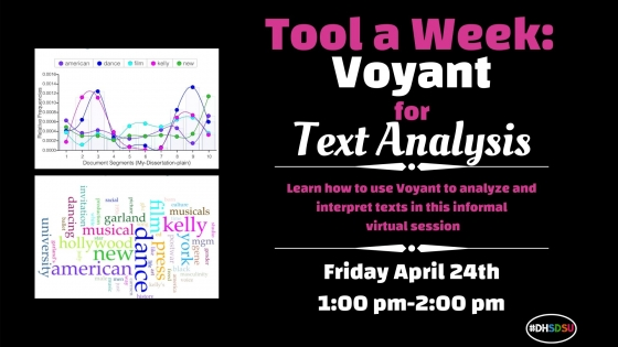 Flyer for Tool a Week: Voyant