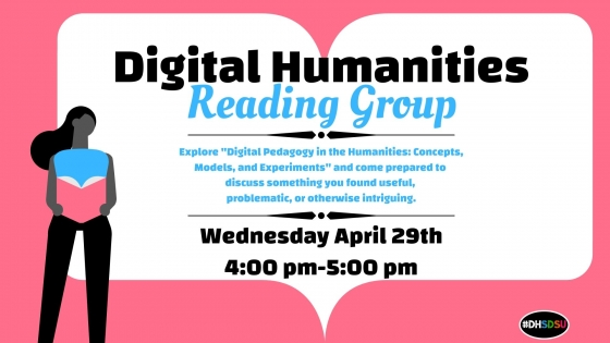 Flyer for DH Reading Circle