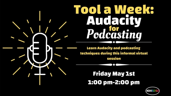 Flyer for Tool a Week: Audacity