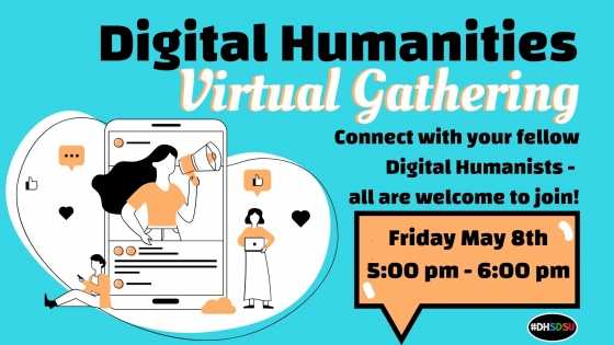 Flyer for DH Virtual Gathering