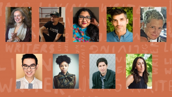 Photos of Fall 2021 Living Writers Series speakers