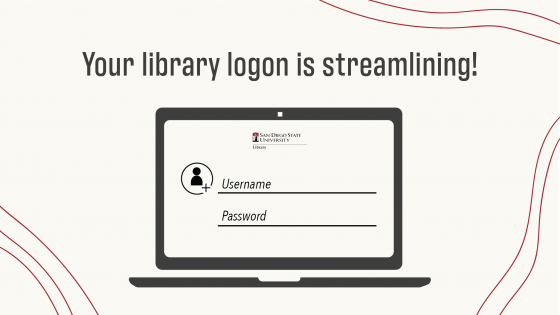 your library logon is streamlining!