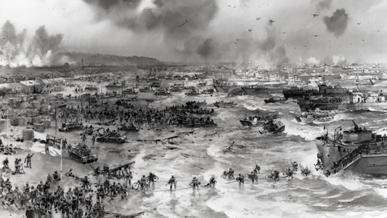 Normandy landing, from the War Department Archives