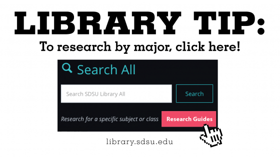 library tip to research by major click here