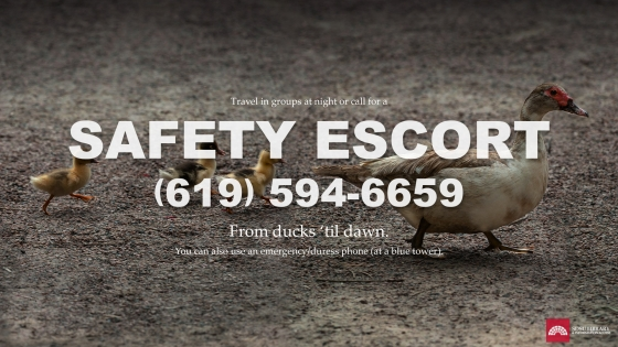 Safety escort 619-594-6659