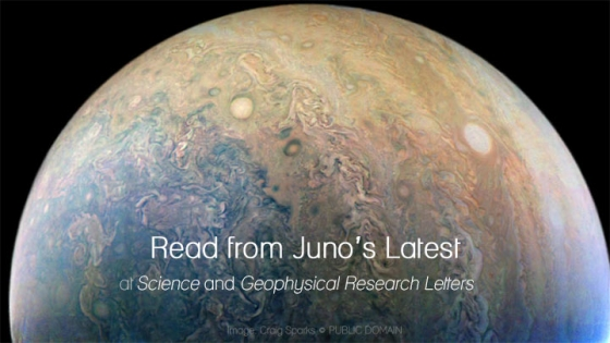 read from junos latest at science and geophysical research letters over jupiter