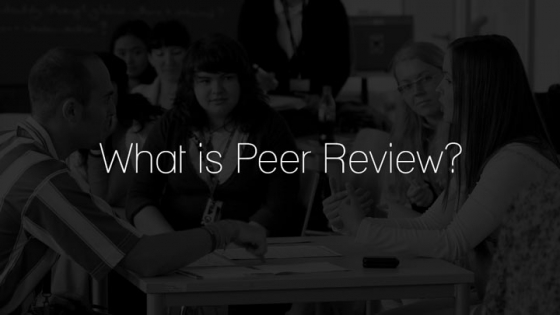what is peer review black white photo of group discussing