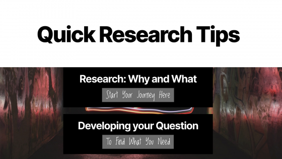 Quick Research Tips