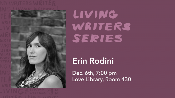 living writers series erin rodoni
