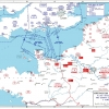 Map of the Allied Invasion Force on D-Day