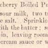 Whortleberry Pudding from A Domestic Cookbook: Containing a Careful Selection of Receipts for the Kitchen by Mrs. Malinda Russell