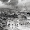 The Allied Invasion Force on D-Day, June 6, 1945